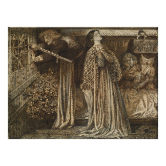 Sir Launcelot in Queen's Chamber Dante Rossetti Posters