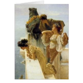 Sir Lawrence Alma-Tadema A Coign Of Vantage Card