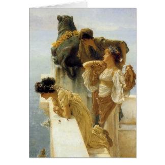 Sir Lawrence Alma-Tadema A Coign Of Vantage Card