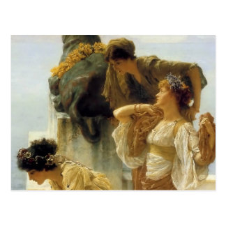 Sir Lawrence Alma-Tadema A Coign Of Vantage Postcard
