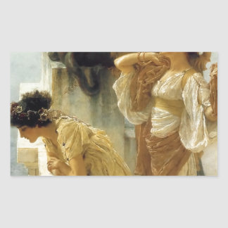 Sir Lawrence Alma-Tadema A Coign Of Vantage Rectangular Sticker