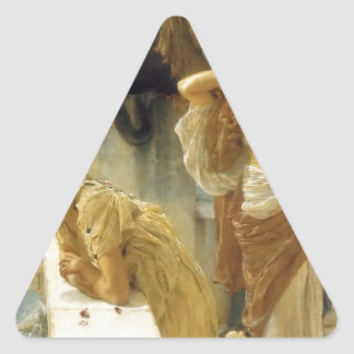 Sir Lawrence Alma-Tadema A Coign Of Vantage Triangle Sticker