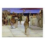 Sir Lawrence Alma-Tadema el | un esmero al Bacchus Tarjeta De Felicitación