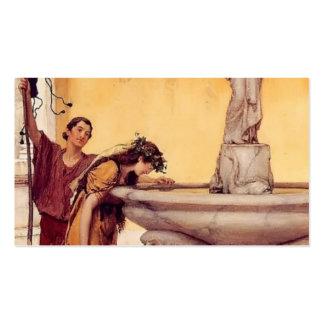 Sir Lawrence Alma-Tadema: Entre Venus y el Bacchus Tarjetas De Visita