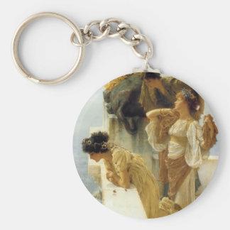 Sir Lawrence Alma-Tadema una esquina de ventajoso Llavero Redondo Tipo Pin
