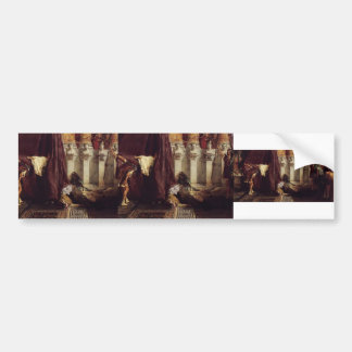 Sir Lawrence Tadema: Ave Caesar! Io Saturnalia! Car Bumper Sticker