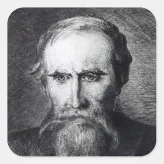 Sir Leslie Stephen, 1889 Square Sticker