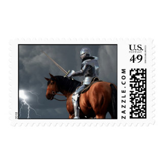 Sir Lightning Rod Stamp