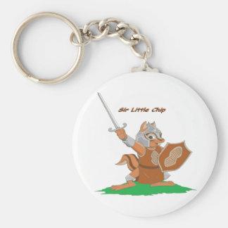 Sir Little Chip del bosque de Mythale Llavero Redondo Tipo Pin