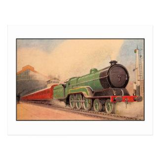 Sir locomotor Sam Fay del vintage de la acuarela Tarjetas Postales