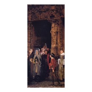 Sir Lorenzo Alma Leaving Church en siglo XV Tarjetas Publicitarias