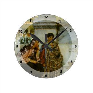 Sir Lorenzo Tadema En la época de Constantina Reloj