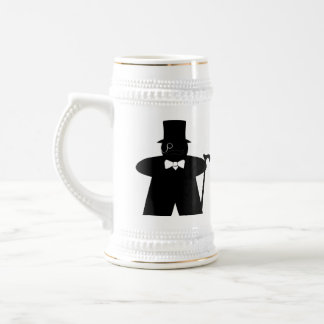 Sir Meeple dapper gamer stein