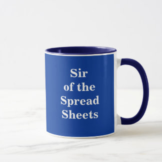 Sir of the Spreadsheets - Nickname mug
