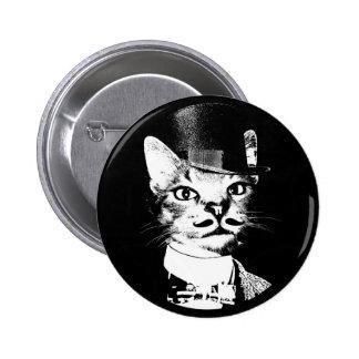 Sir Oswin Cat Button Pin