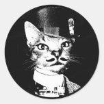 Sir Oswin Cat Sticker Pegatinas Redondas