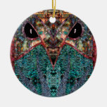 Sir Owl Double-Sided Ceramic Round Christmas Ornament