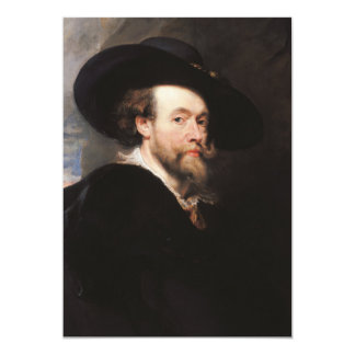 Sir Peter Paul Rubens - Portrait of the Artist 5x7 Paper Invitation Card
