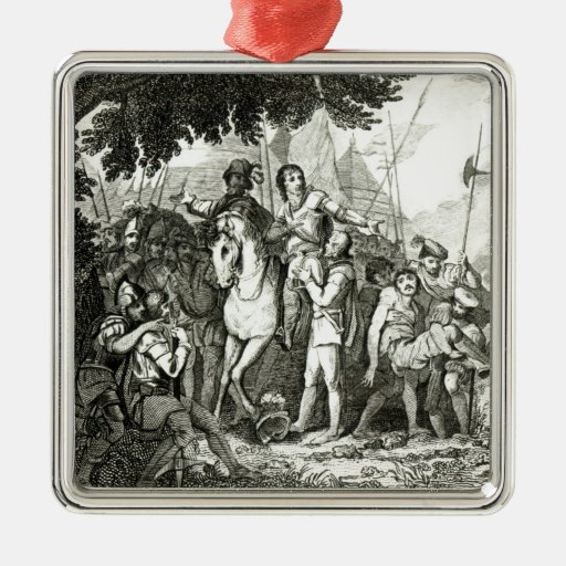 Sir Philip Sidney's Kindness to a Soldier, 1815 Christmas Ornament