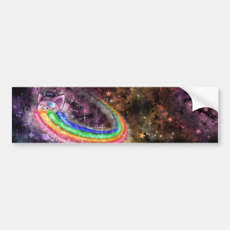 Sir Piggy in SPACE! (Riding on a Rainbow) Bumper Sticker