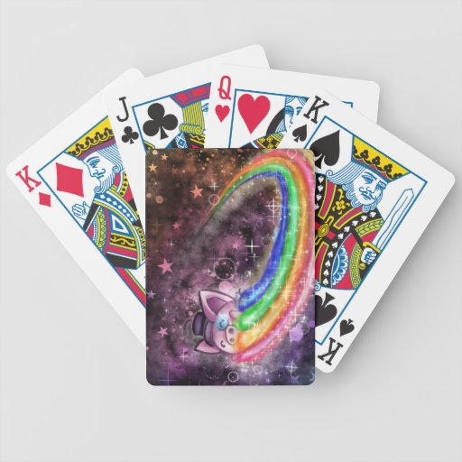 Sir Piggy in SPACE! (Riding on a Rainbow) Poker Cards