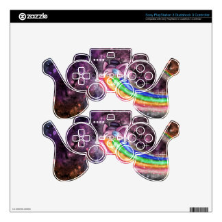 Sir Piggy in SPACE! (Riding on a Rainbow) PS3 Controller Skin