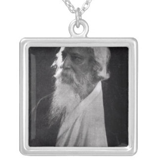 Sir Rabindranath Tagore Silver Plated Necklace