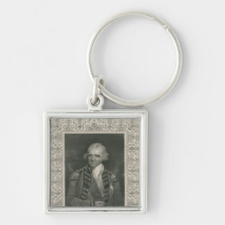 Sir Ralph Abercromby Silver-Colored Square Keychain