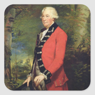 Sir Ralph Milbanke, 6th Baronet, in the Uniform of Square Sticker