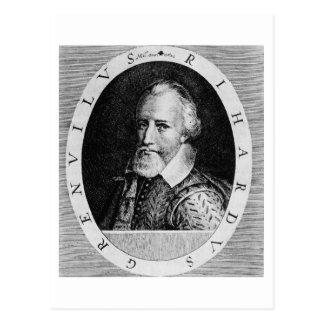 Sir Richard Grenville (c.1541-91), del 'verdugón d Postal