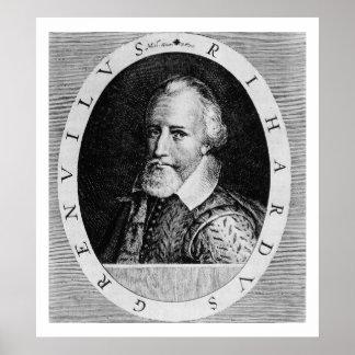 Sir Richard Grenville (c.1541-91), del 'verdugón d Póster