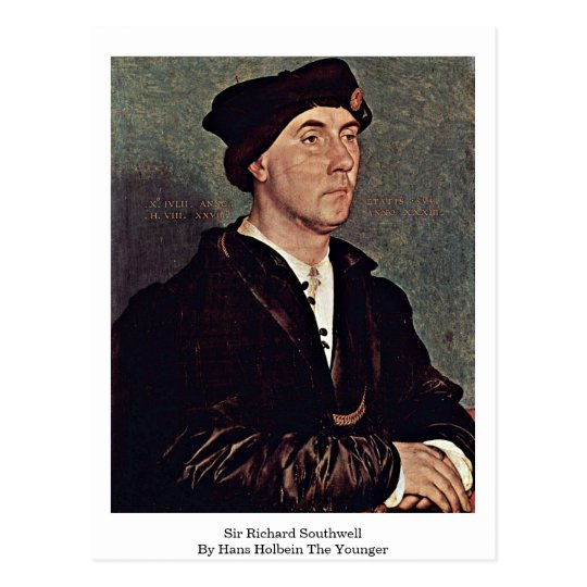 Sir Richard Southwell By Hans Holbein The Younger Postcard