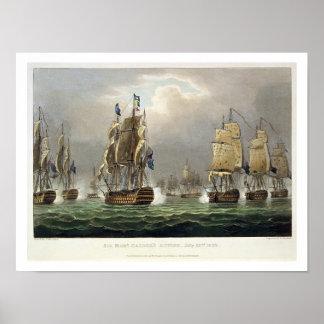 Sir Robert Calder's Action, July 22nd 1805, engrav Poster