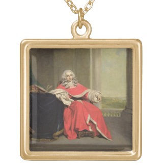 Sir Robert Chambers, c.1789 (oil on canvas) Square Pendant Necklace