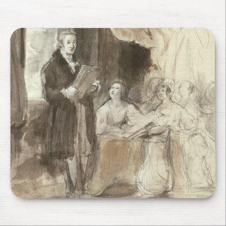 Sir Robert Peel que lee a la reina Victoria Alfombrillas De Ratón