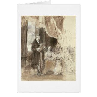 Sir Robert Peel Reading to Queen Victoria Card