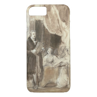 Sir Robert Peel Reading to Queen Victoria iPhone 8/7 Case