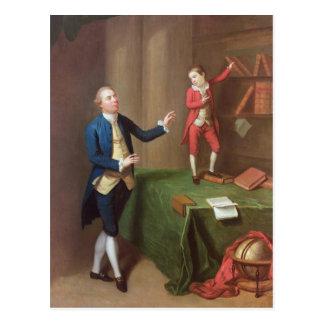 Sir Robert Walker and his son Robert Postcard