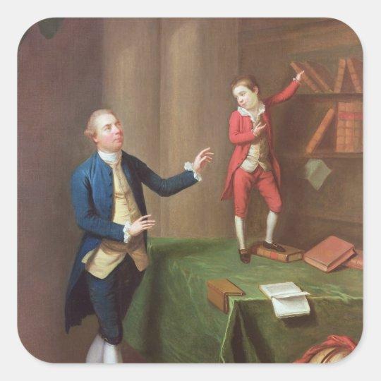 Sir Robert Walker and his son Robert Square Sticker