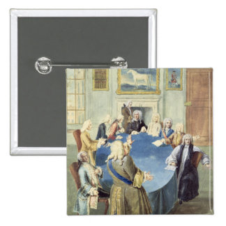 Sir Robert Walpole addressing his cabinet 2 Inch Square Button