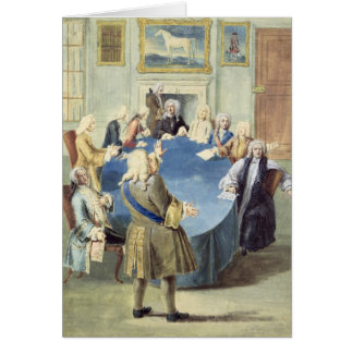 Sir Robert Walpole addressing his cabinet Greeting Card