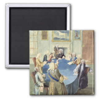 Sir Robert Walpole addressing his cabinet 2 Inch Square Magnet