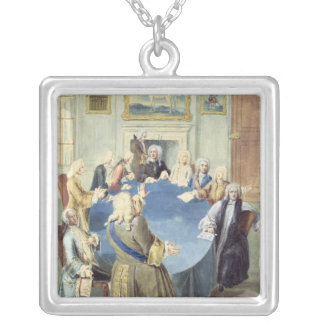 Sir Robert Walpole addressing his cabinet Square Pendant Necklace
