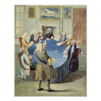 Sir Robert Walpole addressing his cabinet Poster