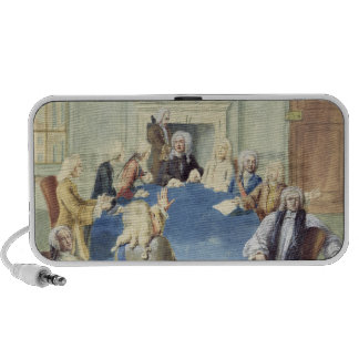 Sir Robert Walpole addressing his cabinet iPod Speakers