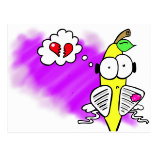 Sir Sad Banana Cartoon Image - Add your own text Postcard