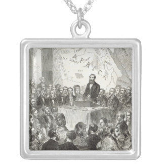 Sir Samuel Baker Silver Plated Necklace