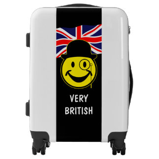 Sir Smiley yellow & union jack + your ideas Luggage