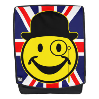 Sir Smiley yellow + your backg. & ideas Backpack