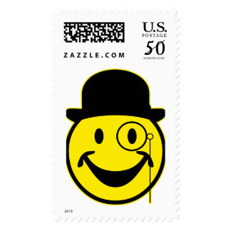 Sir Smiley yellow + your backg. & ideas Postage